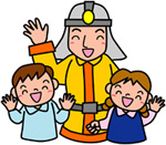 団員と子供