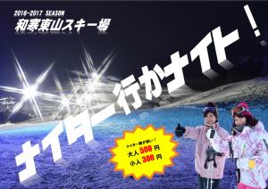 (H28ホムペ)スキー場ポスター案(ナイター行かナイト)